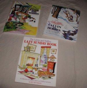 Calvin & Hobbes x3 books Lazy Sunday Authoritative Essential