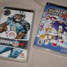 Sony PSP x2 games Sonic Rivals + Madden 08