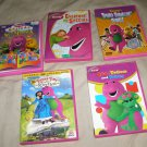 x6 Barney the Purple Dinosaur DVD movies