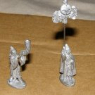 Ral Partha rare Elf horn blower and standard 25mm dungeon minis