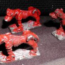 Heritage Models Hell Hounds x3 lead castings 25mm AD&D