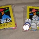 AMERICAN GIRL 2 SEALED PACKAGES OF PINBACK BUTTON GRIN PINS / 20 PINS