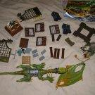 Mega Bloks Krystal Wars Marauders Cliff dragon & parts lot