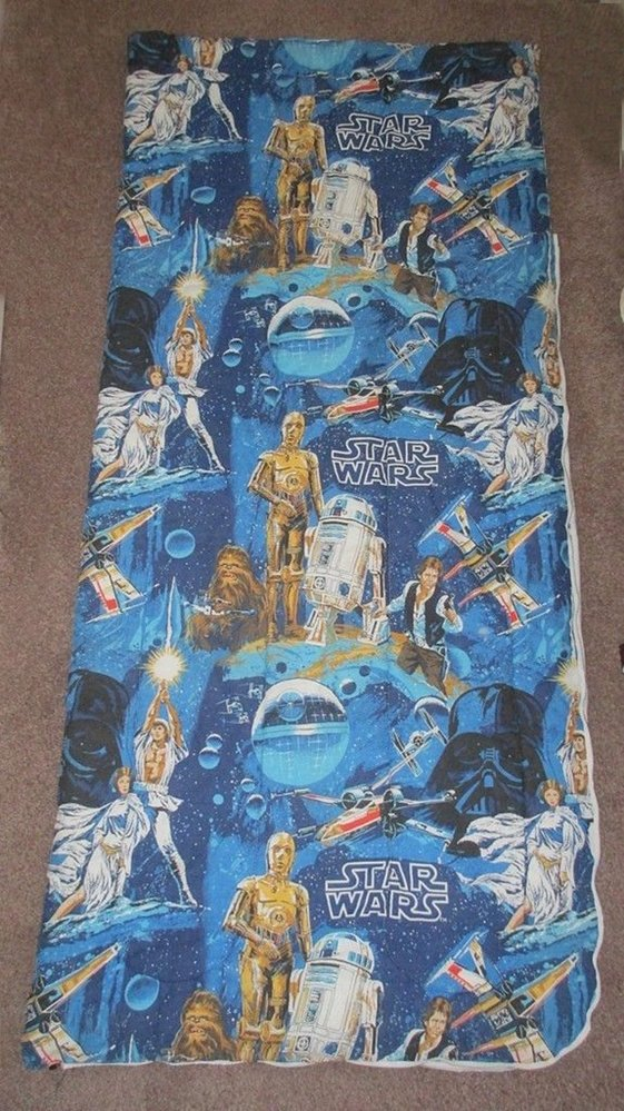 Vintage Star Wars Sleeping Bag Darth Vader Luke