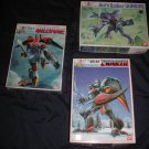 x3 Aura Battler robot model kits ~ Dunbine, Zwarth and Billvine NIB