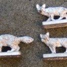 Ral Partha 25mm foxes & wolverine animal figures pewter