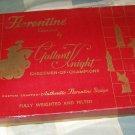 Gallant Knight Chessmen Florentine black & white Complete Chess Set