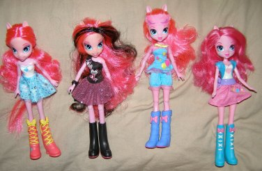 MY LITTLE PONY EQUESTRIA GIRLS Collection x4 doll lot Pinkie Pie