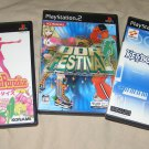 PS2 PlayStation2 x3 Japan Games KeyBoardMania ParaParaParadise DDR Festival