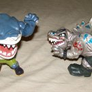 Mattel Street Sharks Extreme Dinosaur Savage Stegz + Ripster vtg figures