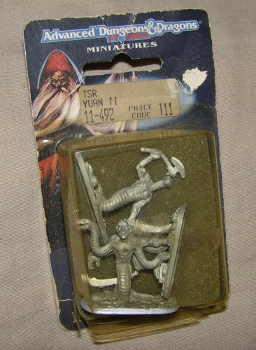 Ral Partha 11-492 Yuan-Ti snake men x3 figure pack NIP