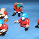 Fisher Price Great Adventures red pirtate figures x5