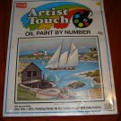 VTG Craft House Artist Touch #11552 Harbor Scene OIL paint by number NIP