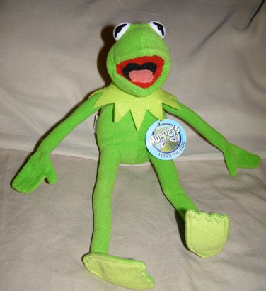 "Kermit the frog muppet 12"" plush by Nanco NWT"