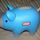 Little Tikes large Blue Coin Piggy Bank with stopper