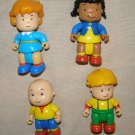 Caillou x4 cartoon toy poseable figures - 2.5 inch