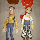 Toy Story Jesse & Woody talking pull string dolls Cowboy Cowgirl