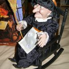 HALLOWEEN WITCH in rocking chair animatronic 1990s Gemmy