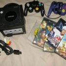 Nintendo GameCube blue system Console w/ cables & games