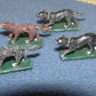 Ral Partha 25mm hunting / war dog miniatures pewter animal figures