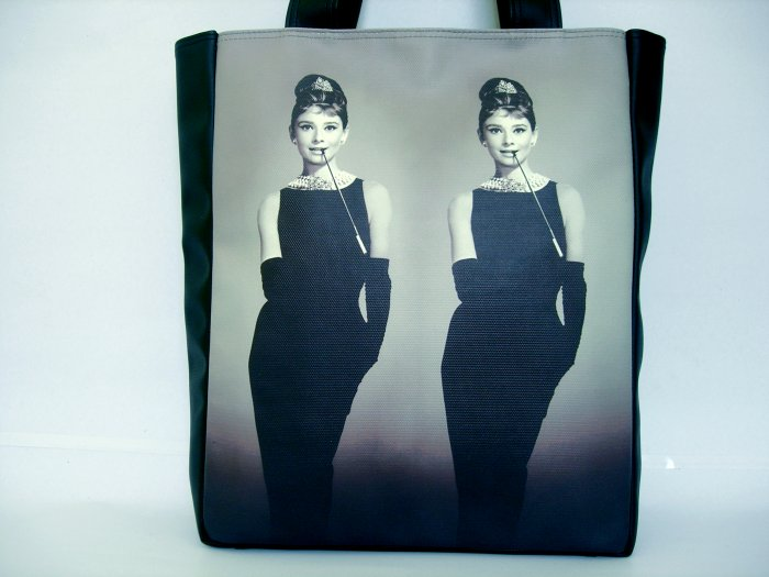 Audrey Hepburn Retro Mirror Classic Tote Shoulder Bag Purse M