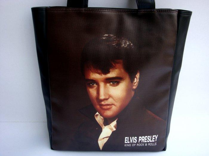 Elvis Presley King of Rock Large Tote Shoulder Bag Purse