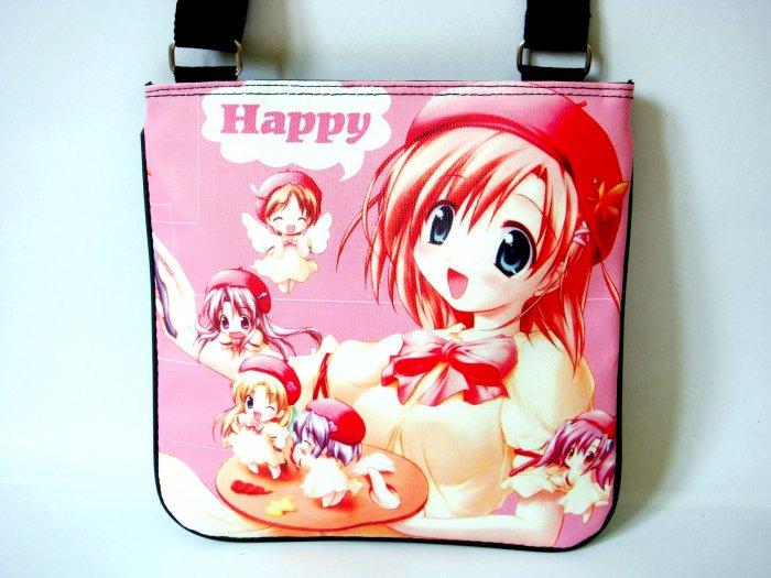 Japanese Anime Manga Art Cartoon Happy Messenger Sling Bag Purse