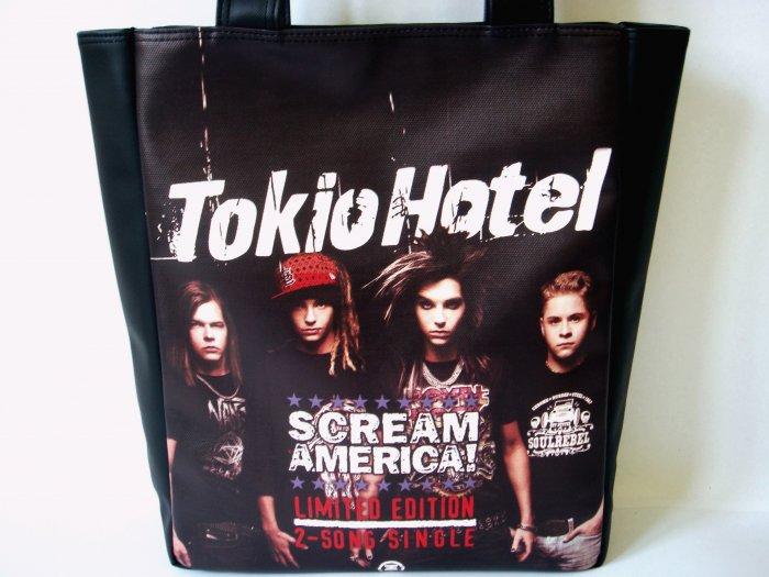 Tokio Hotel Pop Rock Music Band Emo Large Tote Shoulder Bag Purse