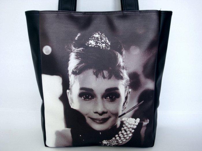 Audrey Hepburn Breakfast At Tiffany's Large Tote Bag Purse