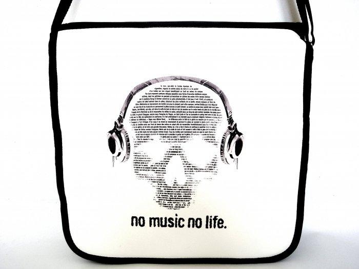 """No Music No Life 10"""" Laptop Notebook Shoulder Case Bag"""