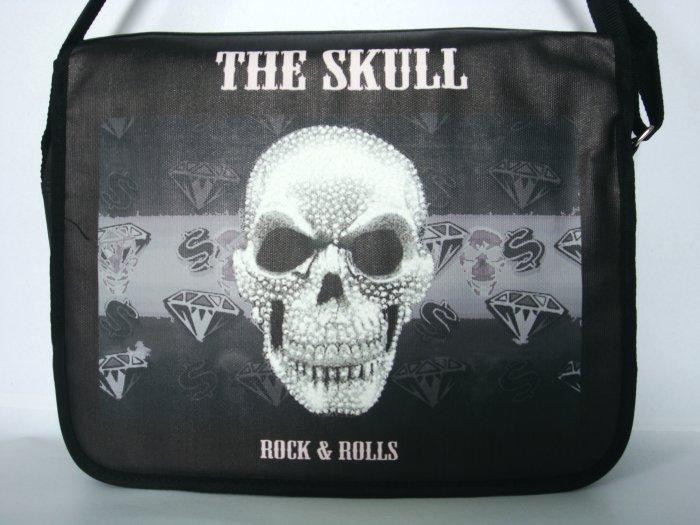 The Skull Punk Rock & Roll 15'' Laptop Notebook Shoulder Case Bag