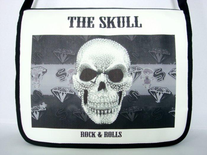 The Skull Punk Rock N Roll 15'' Laptop Notebook Shoulder Case Bag