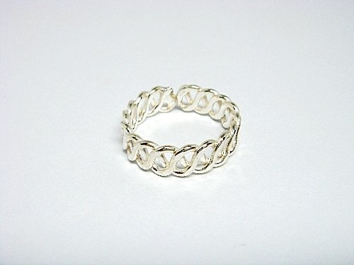 925 Sterling Silver Filigree Adjustable Toe Ring
