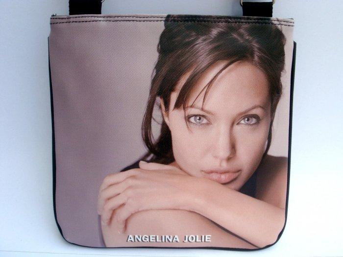 Angelina Jolie Movie Signature Messenger Sling Brown Bag Purse