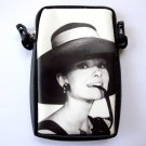 Audrey Hepburn Retro Mobile Phone MP3 MP4 iPod Case Pouch Bag