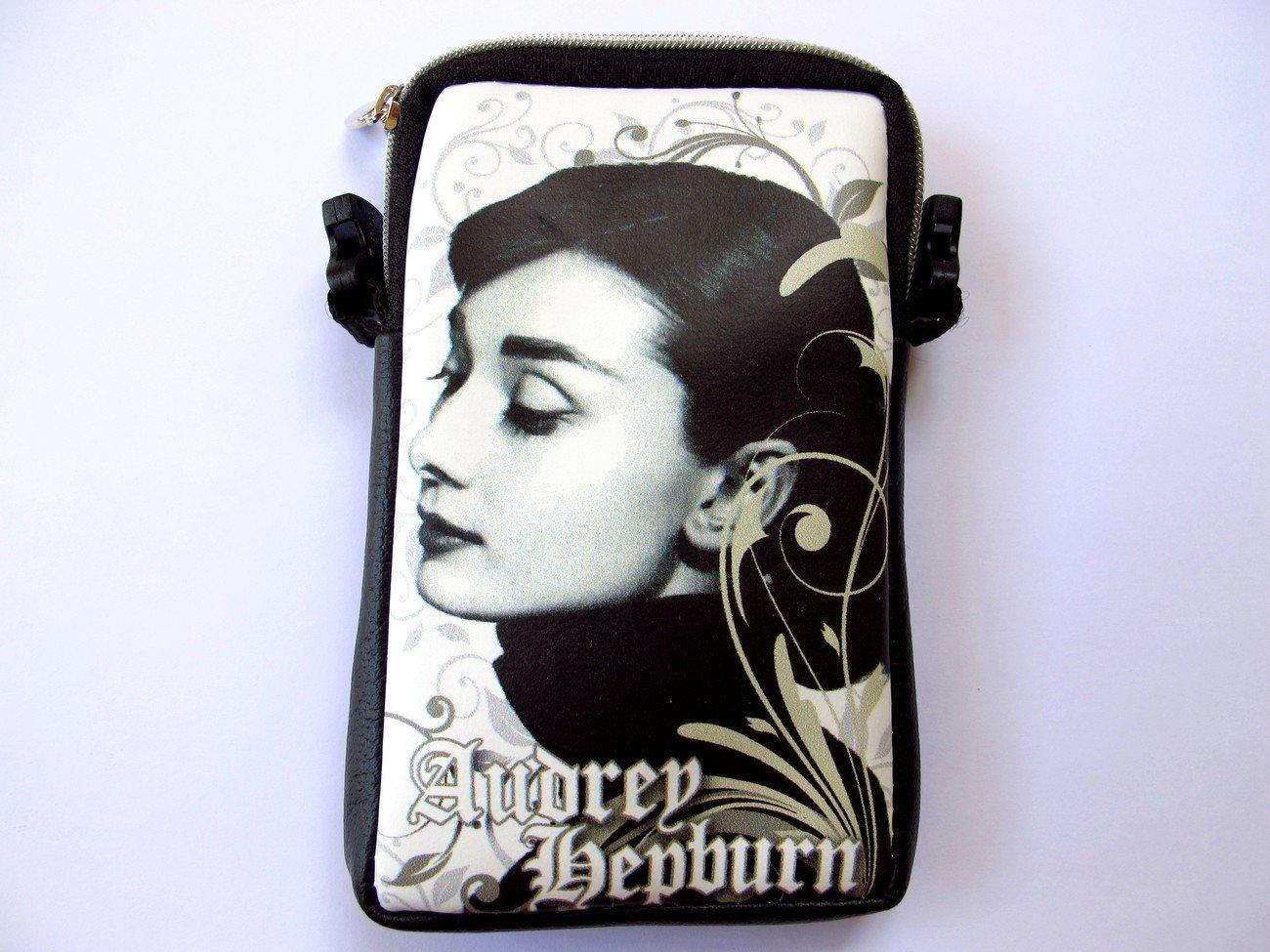 Audrey Hepburn Retro Mobile Phone Digital Camera Case Pouch Bag