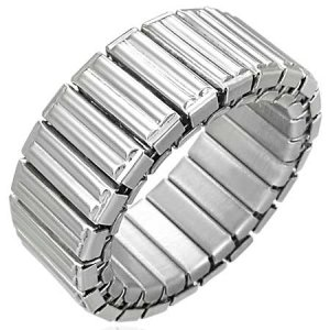 316L Stainless Stretchable Steel Panther Link Trendy Ring 9mm