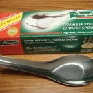 Set of 12 Stainless Steel Asian Chinese Thai Soup Kitchen Spoons
