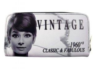 Audrey Hepburn Vintage Classic  Credit Card Money ID Holder Wallet Purse Bag