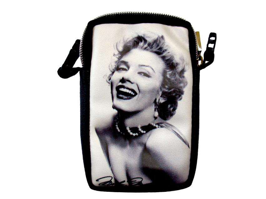 Marilyn Monroe Signature Mobile Cell Phone Camera Case Pouch Bag
