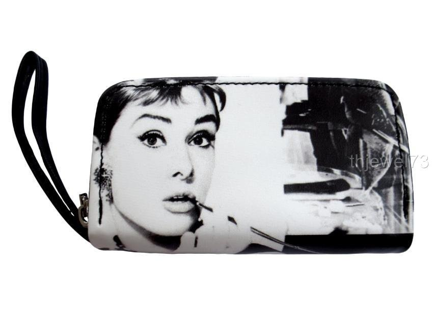 Audrey Hepburn Classic Retro Coin Change Lipstick Cosmetic Small Purse