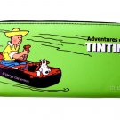 TINTIN Snowy Cartoon Credit Card Money ID Holder Green Wallet Purse Bag