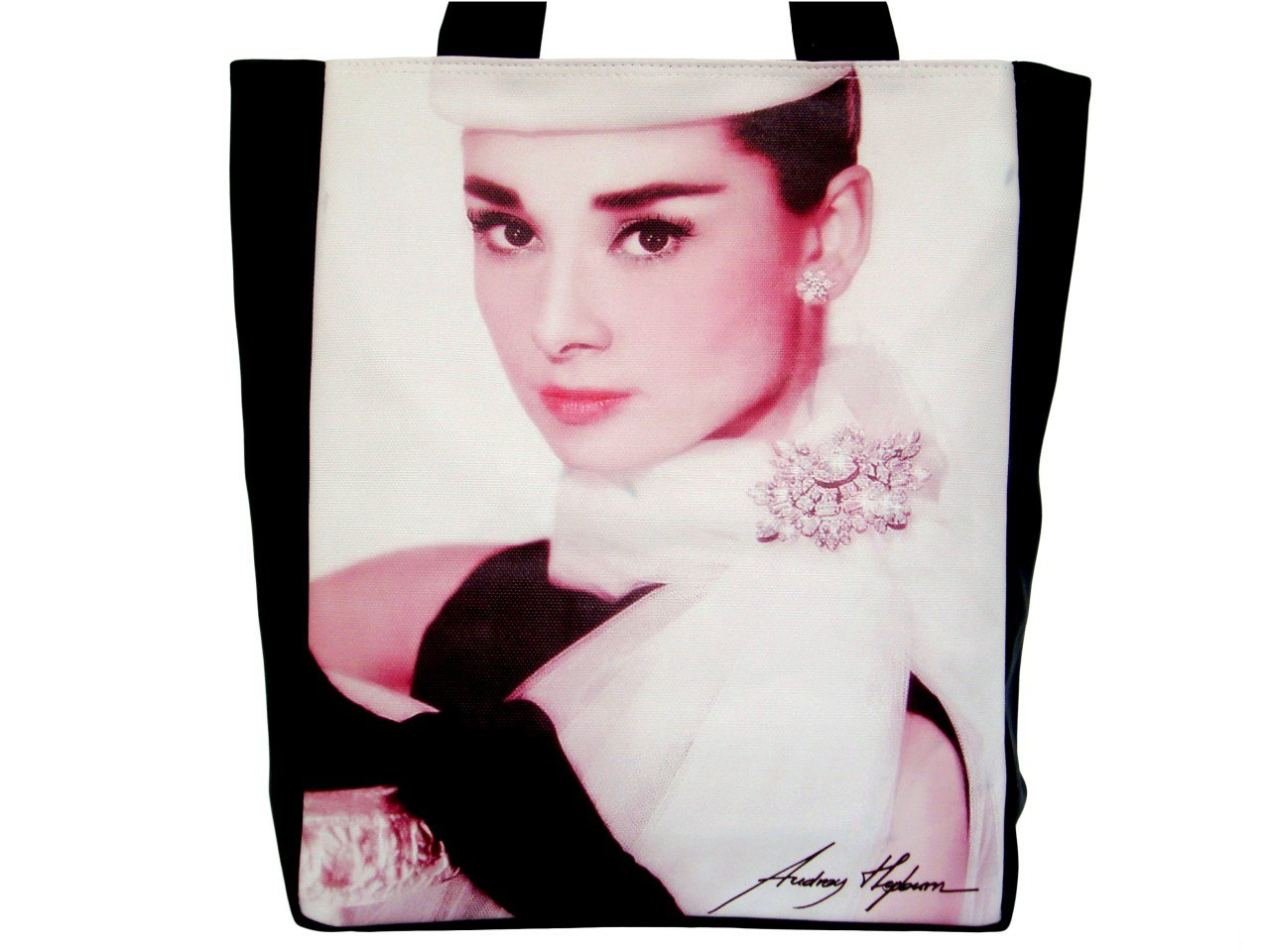 Audrey Hepburn Signature Fashion Large Tote Shoulder Bag Purse