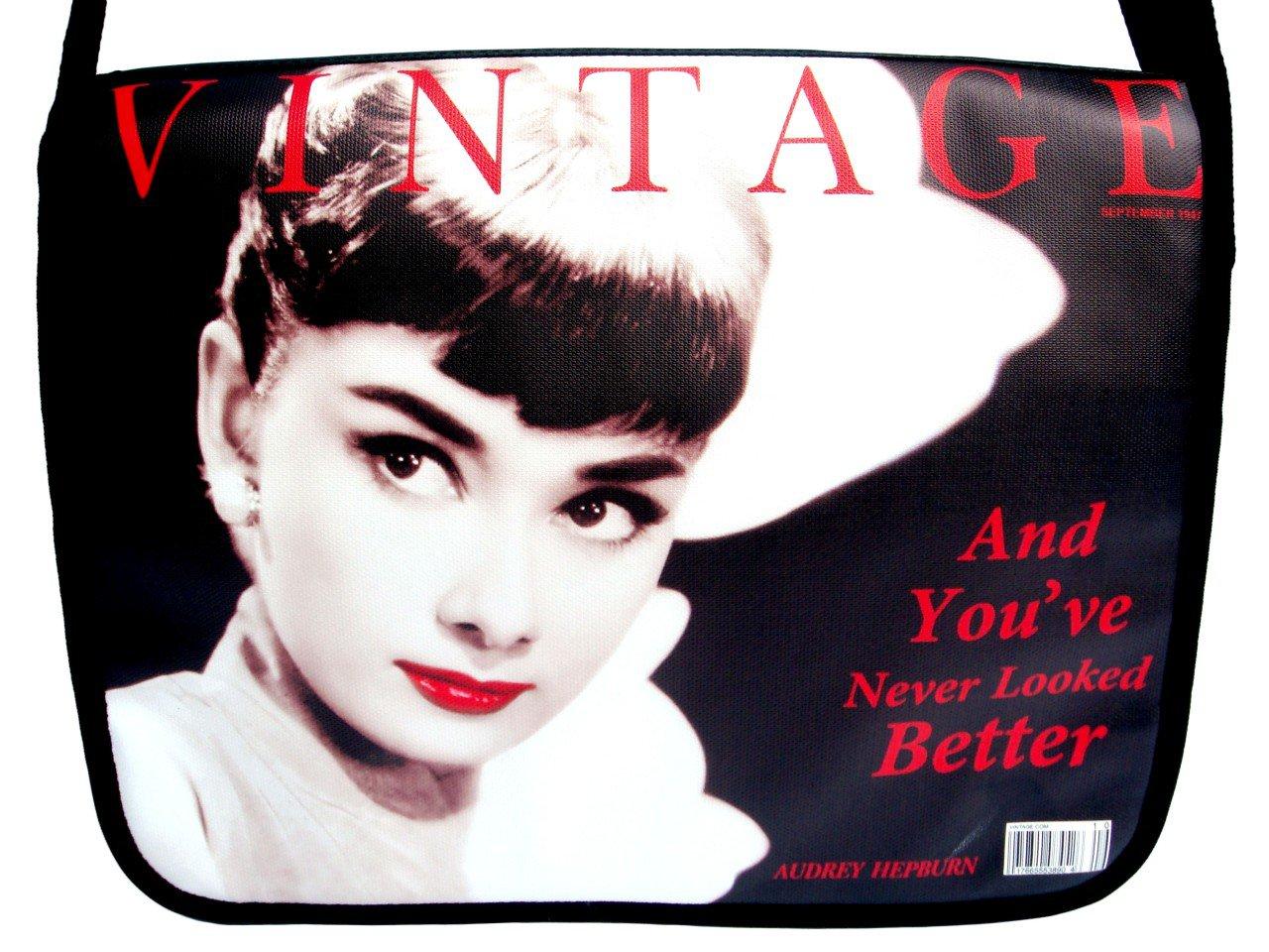 "Audrey Hepburn Classic 15"" Laptop Notebook Shoulder Bag"
