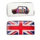 Mini Cooper UK Great Britain Flag Rainbow Money Case Travel Wallet Bag