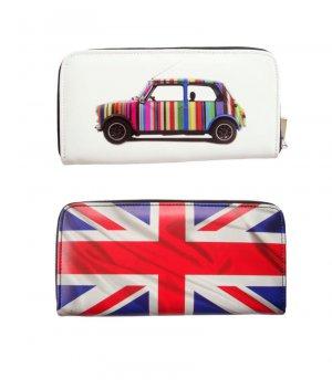 Mini Cooper UK Great Britain Flag Rainbow Money Case Travel Wallet Bag
