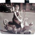 Audrey Hepburn Classic Retro Vespa Wide Tote Shoulder Bag Purse