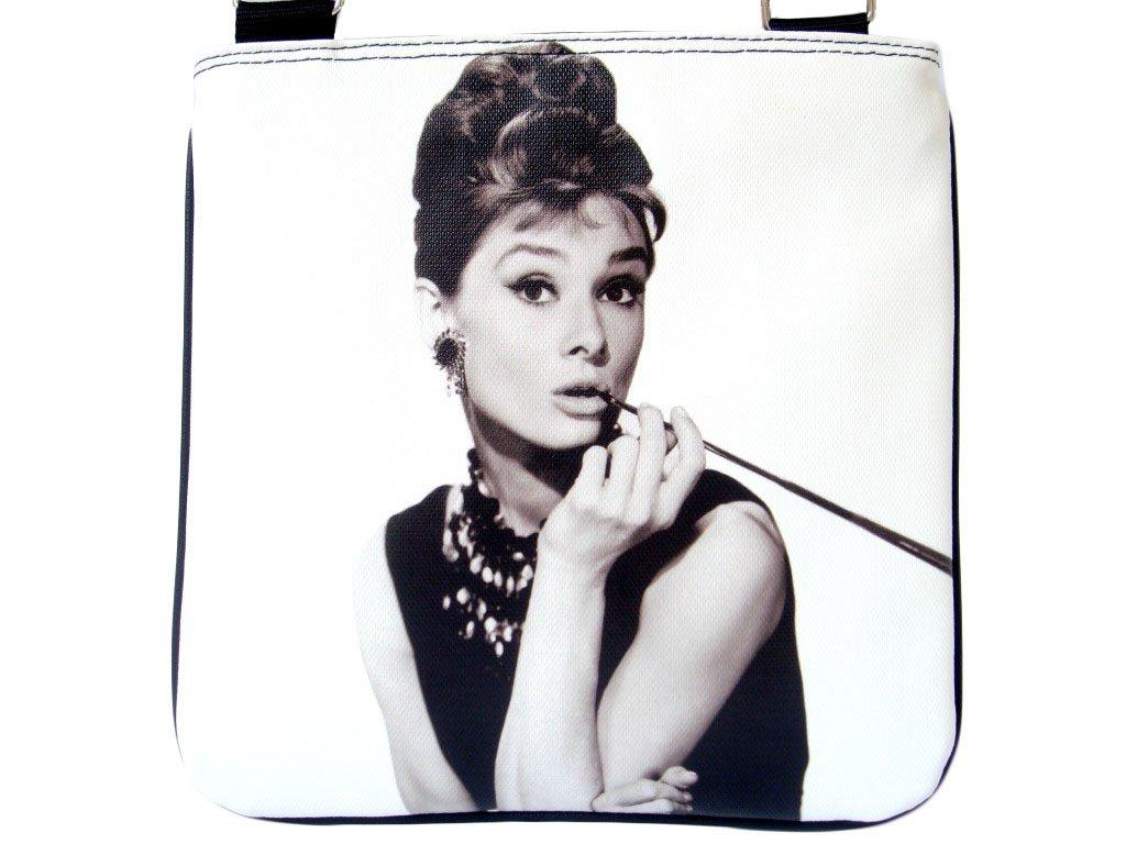 Audrey Hepburn Breakfast At Tiffanys Cinema Messenger Bag Purse