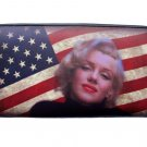 Marilyn Monroe Tea Stained USA Flag Credit Card Money ID Holder Wallet