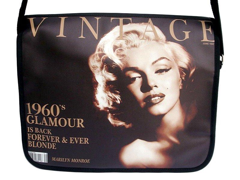 """Marilyn Monroe Vintage 15"""" Laptop Notebook Shoulder Bag"""